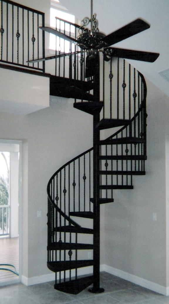 El paso custom iron works spiral staircases for Spiral stair design